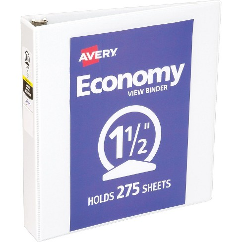 Avery Economy 1.5 3-Ring View Binder, White 5726-CT - image 1 of 2