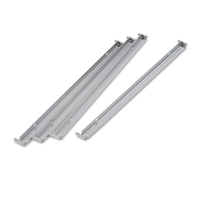 "Alera Two Row Hangrails for 30"" or 36"" Files, Aluminum, 4/Pack LF3036"