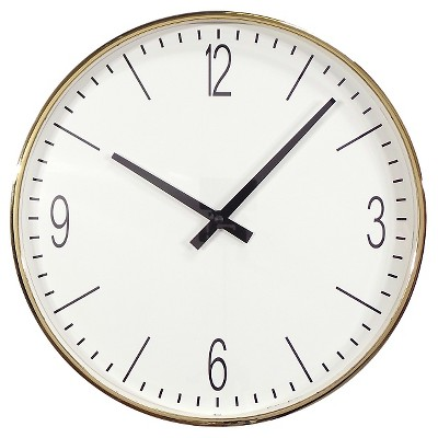 17.5  Round Wall Clock Brass - Threshold™