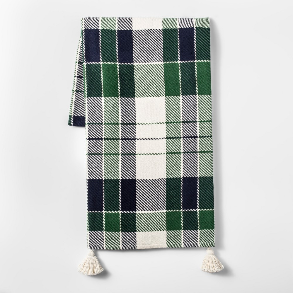 Plaid Throw Blanket - Green - Threshold