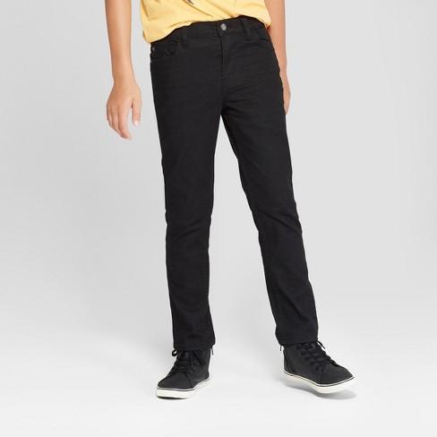 6ab8b33bb Boys' Skinny Fit Jeans - Cat & Jack™ Black Wash 10 Husky : Target