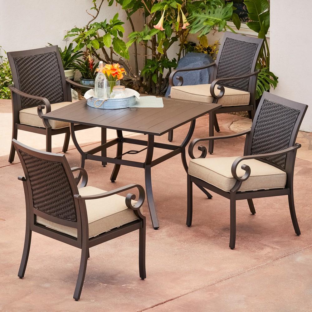 Image of 5pc Milano Dining Tan - Royal Garden