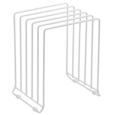 mDesign Metal Wire Pot/Pan Organizer Rack for Kitchen, 5 Slots