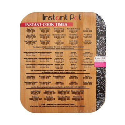 Instant Pot Cook Times Bamboo Board