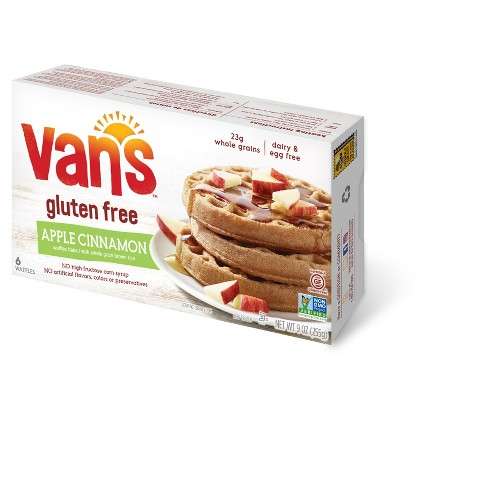 Van's Natural Gluten Free Apple Cinnamon Frozen Waffles - 6pk - 9oz - image 1 of 1