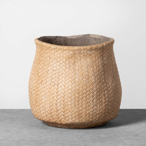 Planter Woven Cement - Hearth & Hand™ with Magnolia - image 1 of 3