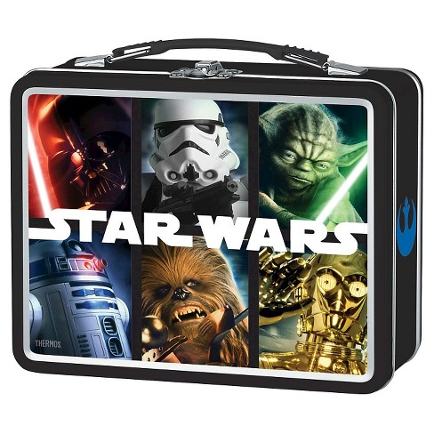 Thermos Metal Hard Sided Lunch Box - Star Wars (Black) - image 1 of 1