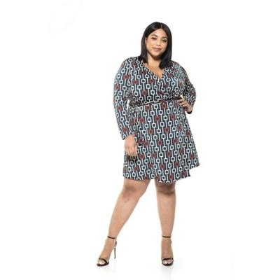 Alexia Admor Diana Geo Print Wrap Dress