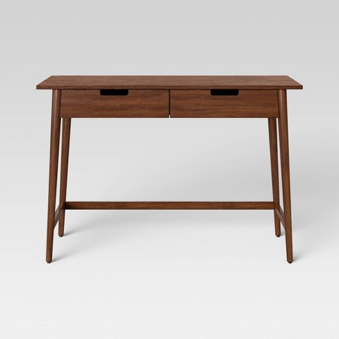 Ellwood Mid Century Modern Wood Desk with Storage Brown - Project 62™