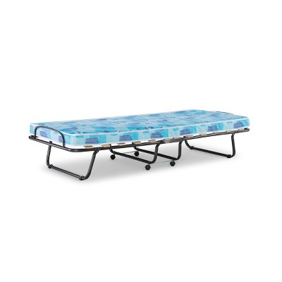 Roma Folding Bed Twin Blue - Linon