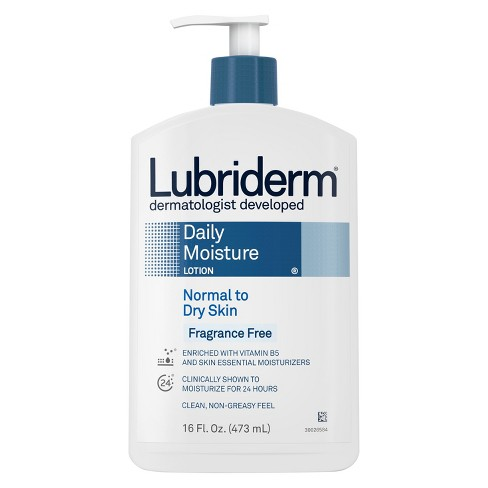 Lubriderm Daily Moisture Body Lotion, Fragrance-Free - 16 fl oz - image 1 of 3