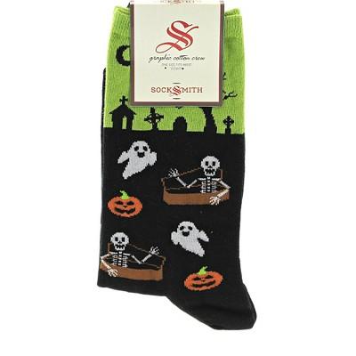 "Novelty Socks 14.5"" Undead Friends Halloween Cemetery Spooky Socksmith  -  Socks"