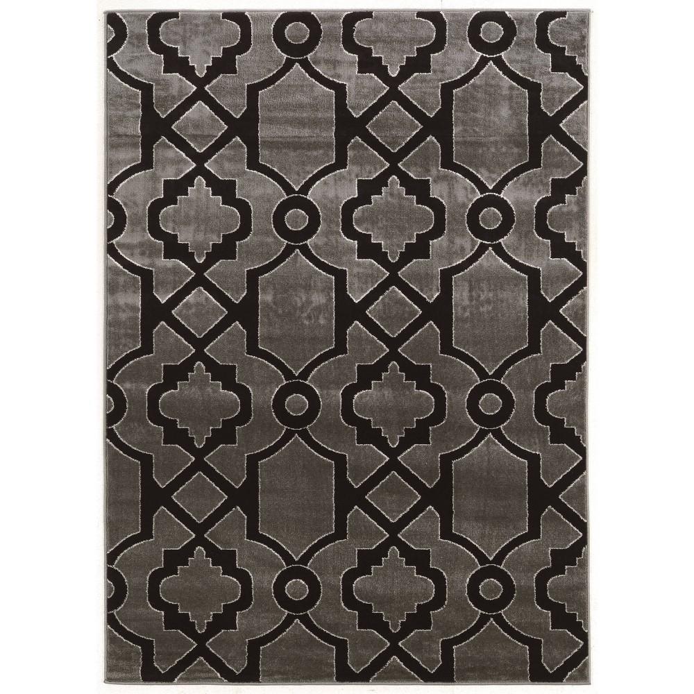 5 39 X7 39 Elegance Geo Rug Black Gray Linon