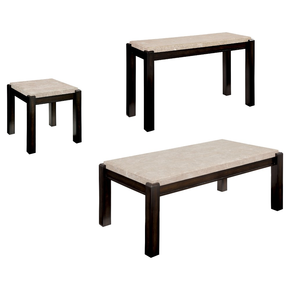 Sun & Pine Occasional Table Set Classic Ivory