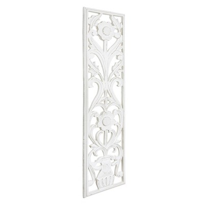 Hand Carved Wood Decorative Wall Panel White - Crystal Art Gallery