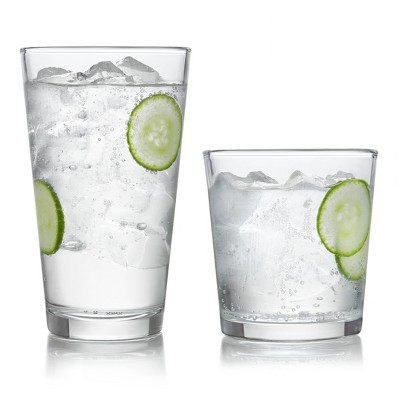 Libbey Preston 16pc Glass Drinkware Set