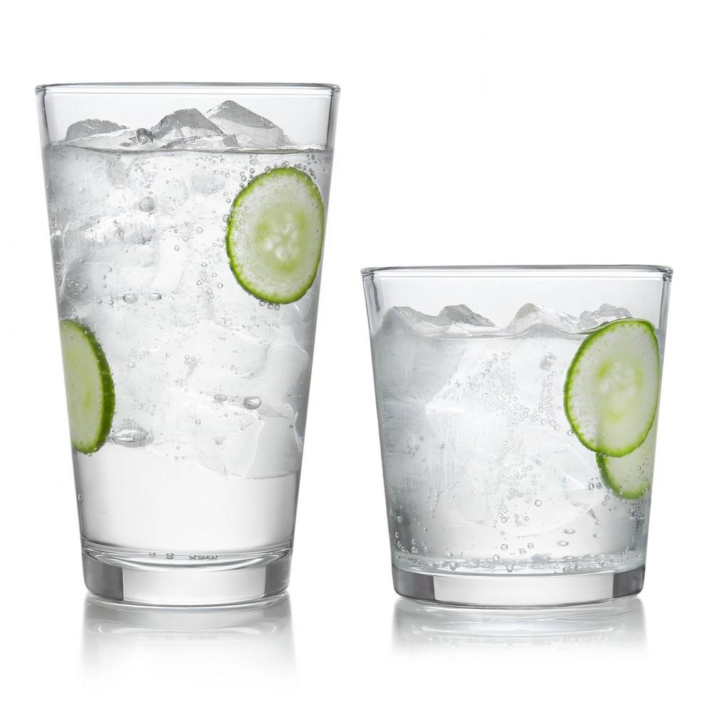 Image of Libbey Preston 16pc Glass Drinkware Set