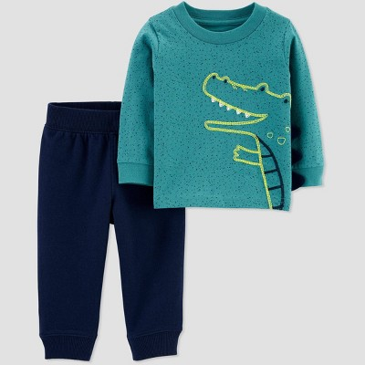 Baby Boys' Crocodile Sweatpants Set - Just One You® made by carter's Green Newborn