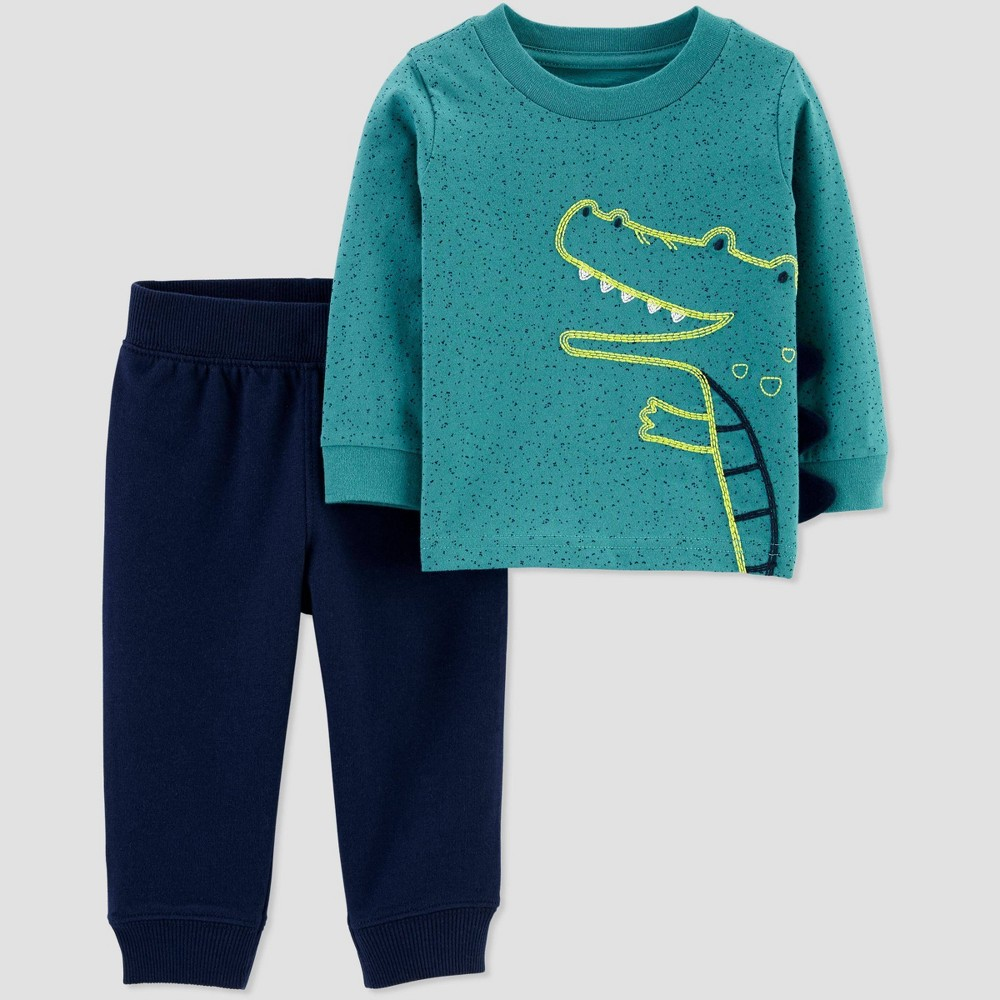Toddler Boys' Crocodile Sweatpants Set - Just One You made by carter's Green 4T, Boy's was $11.99 now $8.39 (30.0% off)