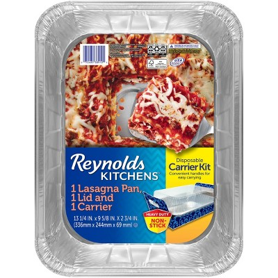 Reynolds Disposable Bakeware Pan and Lid with Carrier -1ct