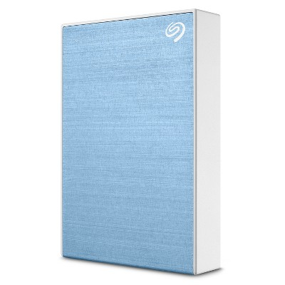 Seagate One Touch 2TB External HHD Drive with Rescue Data Recovery Services, Light Blue (STKB2000402)