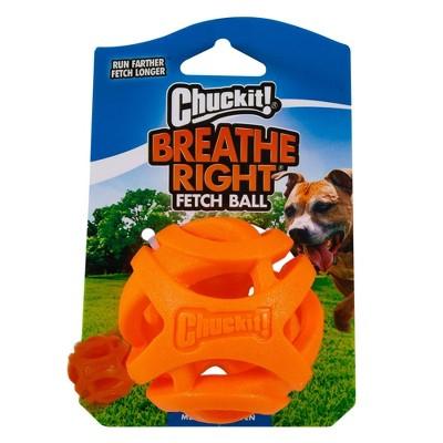 Chuckit! Breathe Right Fetch Ball Dog Toy - Orange - M