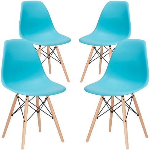 Set of 4 Bianca Mid Century Side Chair - Poly & Bark - image 1 of 4