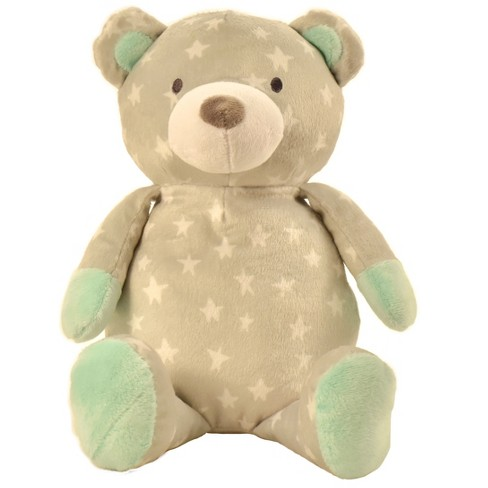 Manhattan Toy Pattern Plush - Bear (Gray with Stars) - image 1 of 3