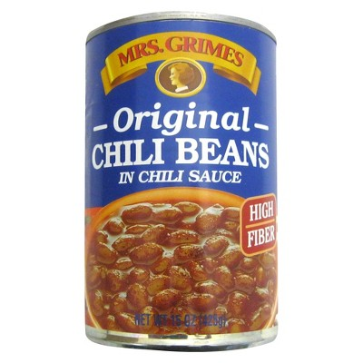 Mrs. Grimes Vegetarian Original Chili Beans in Chili Sauce - 15oz