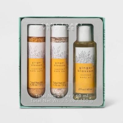 Ginger Blossom Sanctuary Revitalize Bath Gift Set - 3pc - Target Beauty™