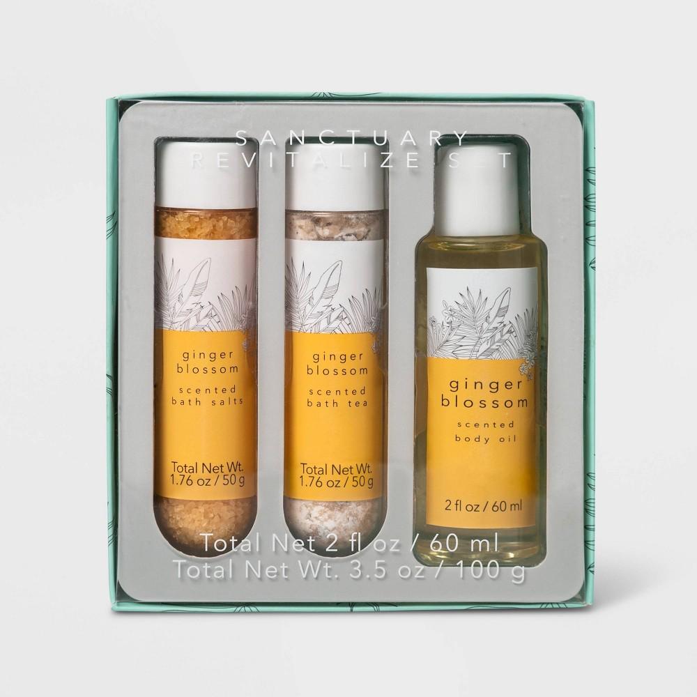 Image of Ginger Blossom Sanctuary Revitalize Bath Gift Set - 3pc - Target Beauty