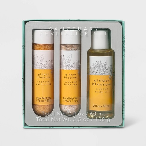 Ginger Blossom Sanctuary Revitalize Bath Gift Set - 3pc - Target Beauty™ - image 1 of 2