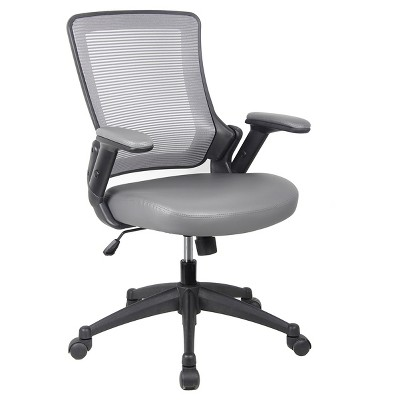 Mid - Back Mesh Task Office Chair with Height Adjustable Arms - Techni Mobili