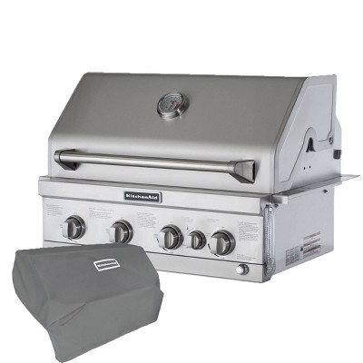 KitchenAid 740-0780CO Premium 4 Burner Built-in Head with Rotisserie Burner with Grill Cover