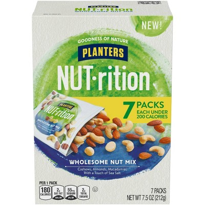 Planters Nut-Rition Wholesome Nut Deluxe Mix - 7.5oz - 7ct