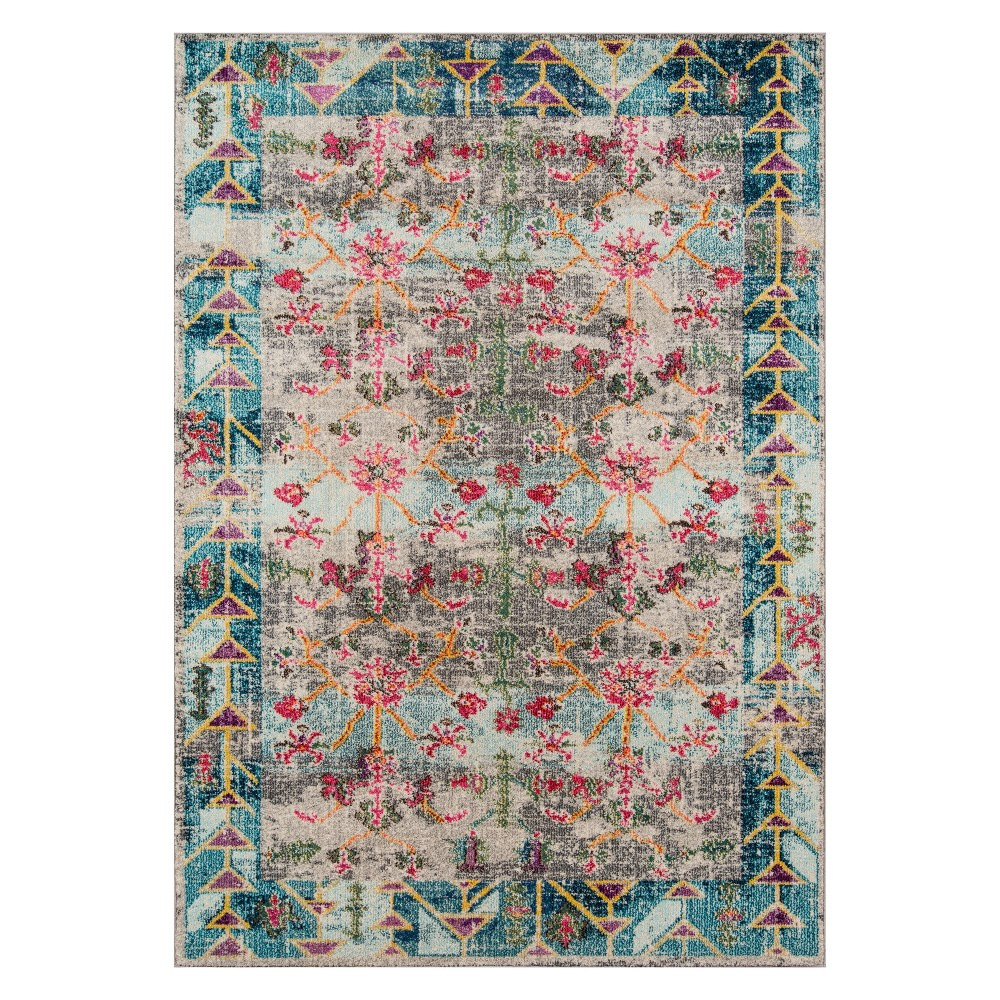 2'X3' Floral Loomed Accent Rug - Momeni, Multicolored