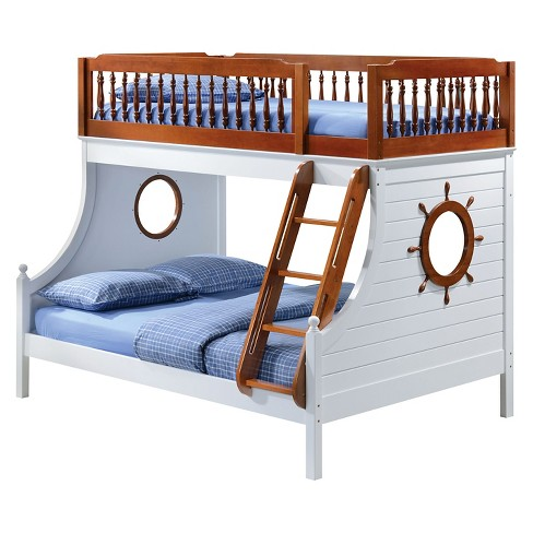 Farah Kids Bunk Bed Oak And White Twin Acme Target