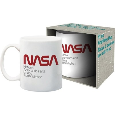 NMR Distribution NASA Red Logo 11oz Ceramic Coffee Mug