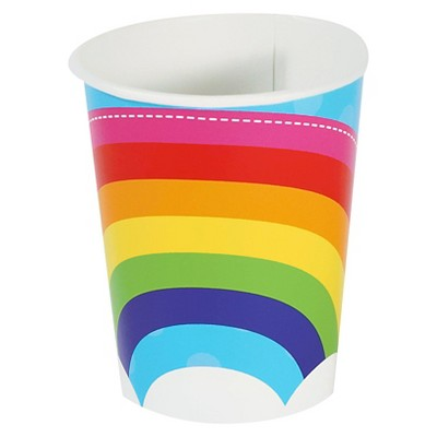 8ct Rainbow Paper Cup