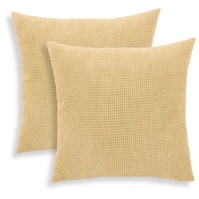 Toasted Almond Tyler Textured Woven Throw Pillow 2 Pack (18 x18 )- Essentials