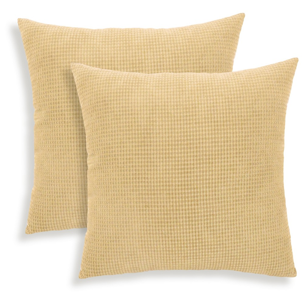 Toasted Almond Tyler Textured Woven Throw Pillow 2 Pack (18