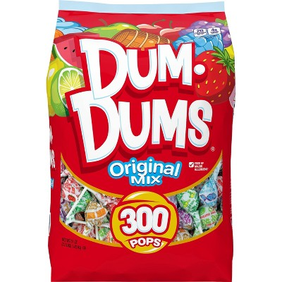 Dum Dums Original Assorted Flavors Lollipops - 300ct