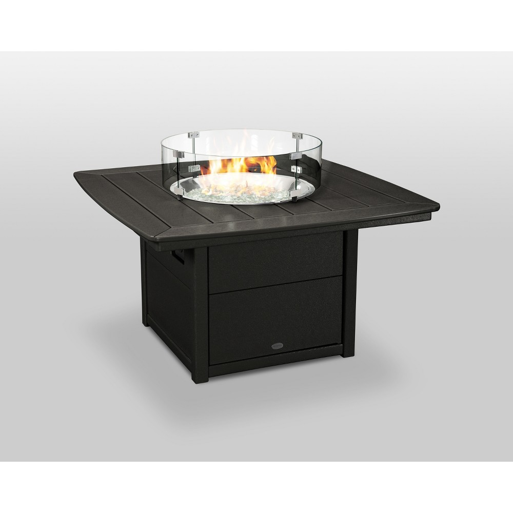 "Image of ""POLYWOOD 42"""" Nautical Fire Pit Table - Black"""
