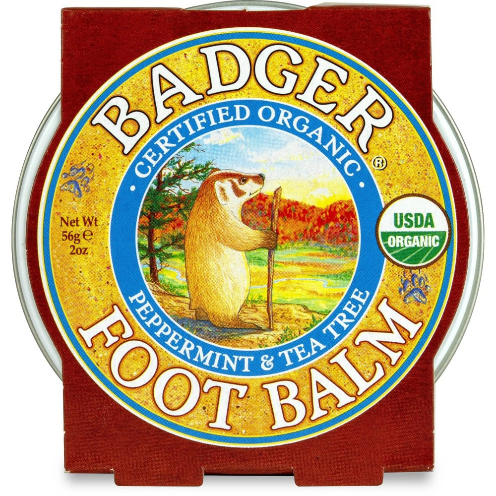 Image of Badger Peppermint & Tea Tree Foot Balm - 2oz