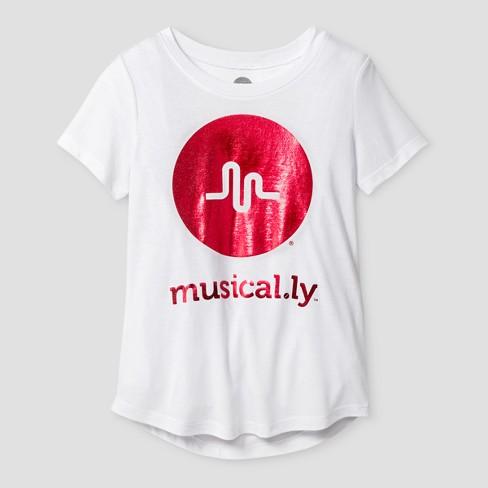girls musical ly shimmer short sleeve t shirt white target