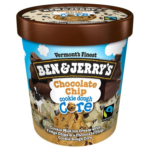 Ben & Jerry's Cookie Core Chocolate Chip Cookie Ice Cream - 1pt - image 1 of 4