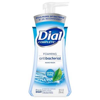 Dial Foaming Antibacterial Hand Wash Spring Water - 10 fl oz