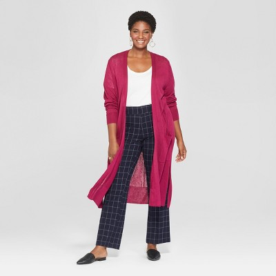 c18f2487b9256 Women's Plus Size Lightweight Cardigan – Ava & Viv™ Berry 2X ...