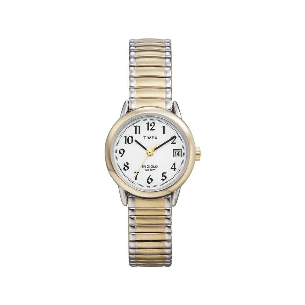 Women 39 S Timex Easy Reader Expansion Band Watch Two Tone T2h381jt
