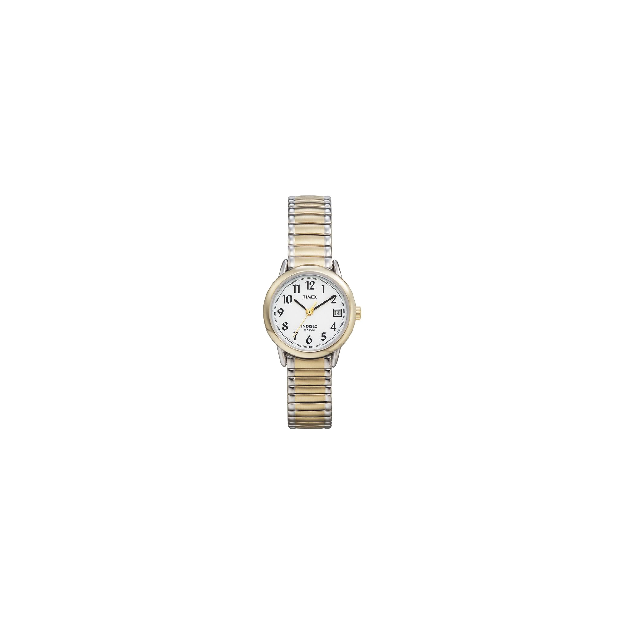 Women's Timex Easy Reader Expansion Band Watch - Two Tone T2H381JT, Size: Small, White
